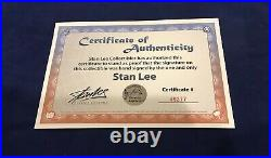 Superior Spider-Stan Litho Signed by Stan Lee with COA Very Limited SPIDER-MAN