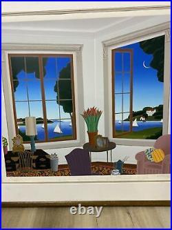 THOMAS McKNIGHT Signed Limited Edition SERIGRAPH Framed NORTH SHORE COA 41x38