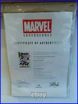 The Avengers Limited Edition Signed by STAN LEE framed / SOLD OUT