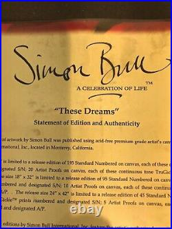 These Dreams SIMON BULL, LIMITED EDITION GICLEE, N/S, With COA
