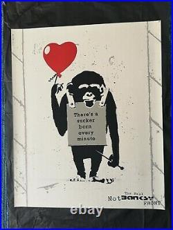 True love fake art not banksy serigraph signed limited edition 500 with COA