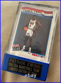 USA Basketball DREAM TEAM 1992 NBA Patrick Ewing Signed Limited Edition Card COA