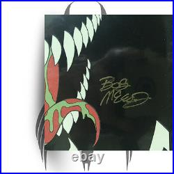 Venom #1 SIGNED BOB McLEOD! Limited B&W Glow in the Dark COA Grade 9.6-9.8