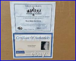 Walter Payton signed framed 16x20 photo! Limited To #557/1993 Steiner COA