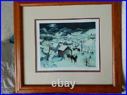 Will Moses Frosty Creek Limited Edition Signed & Numbered 8/500 lithograph COA