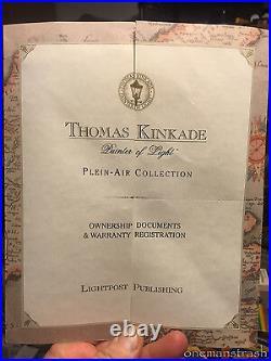 Wisteria Arbor Thomas Kinkade Plein-Air Collection Limited Edition 12x9 COA