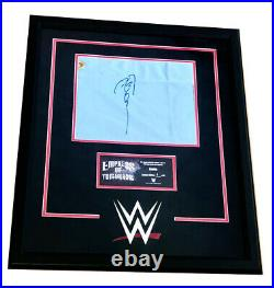 Wwe Asuka Hand Signed Autographed Ring Canvas Plaque Limited To 1 Of 6 With Coa