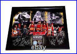 Wwe Womens Revolution Signed By 9 Limited Edition Plaque Coa From Wwe 9 Of 9