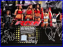 Wwe Womens Revolution Signed By 9 Limited Edition Plaque With Coa From Wwe