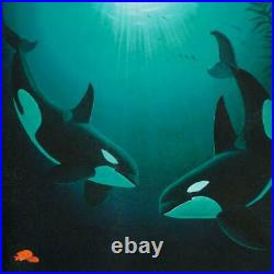 Wyland In the Company of Orcas Signed Canvas Limited Edition Art COA