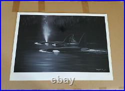 Wyland Orca Evening Hand Signed Limited Edition Art with COA