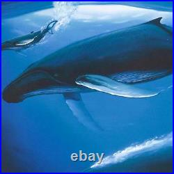 Wyland Sea of Life Limited Edition Lithograph Signed COA Whales 27 x 18.5