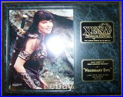 Xena Autographed Wall Plaque A Necessary Evil Limited Edition #174 + Coa