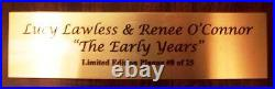 Xena Autographed Wall Plaque The Early Years Limited Edition #8 Of 25 + Coa
